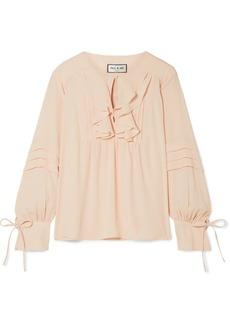 Paul & Joe Santiago Ruffled Crepe De Chine Blouse