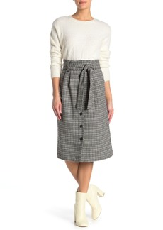 Paul & Joe Sornette Check Print Wool Blend Midi Skirt