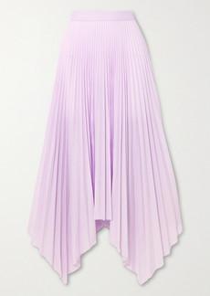 Paul & Joe Sortilege Asymmetric Pleated Crepe Midi Skirt