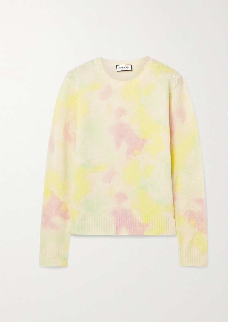 Paul & Joe Tie-dyed Wool And Cashmere-blend Sweater