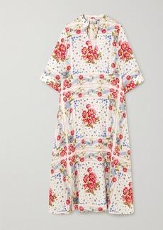 Paul & Joe Valdaoste Floral-print Linen Midi Dress
