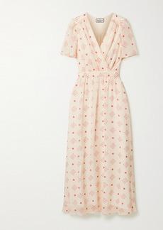 Paul & Joe Wrap-effect Floral-print Chiffon Midi Dress