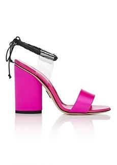 Paul Andrew Women's Estes PVC & Satin Sandals