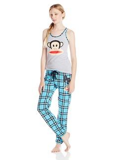 Paul Frank Women's Julius Academy Blue Plaid Pajama Set