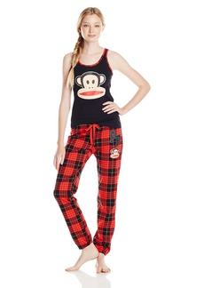 Paul Frank Women's Julius Academy Red Plaid Pajama Set