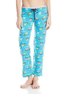 Paul Frank Women's Logo Printed Pajama Pants Turq