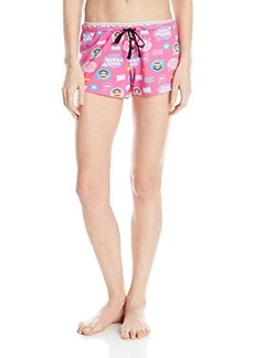 Paul Frank Women's Logo Printed Pajama Shorts Pink
