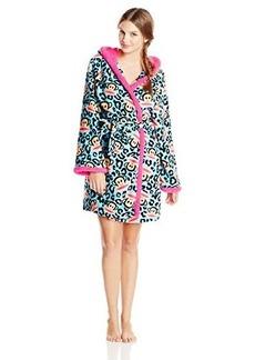 Paul Frank Women's Sweet and Cozy Julius Animal Print Hoodie Robe