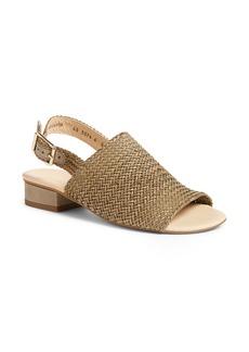 Paul Green Helena Woven Leather Block Heel Sandal (Women)
