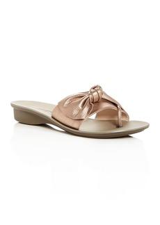 Paul Green Women's Paula Leather Knot Slide Sandals