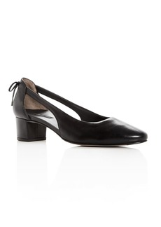 Paul Green Women's Paulina Leather d'Orsay Block Heel Pumps