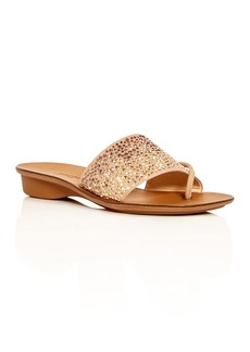 Paul Green Women's Pixie Embellished Nubuck Leather Slide Sandals