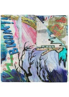 Paul Smith all-over print scarf