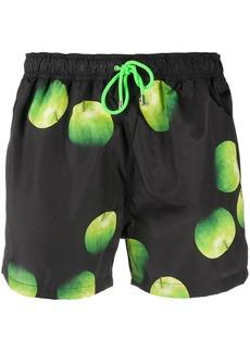 Paul Smith apple print swim shorts