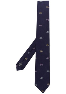 Paul Smith bicycle pattern silk tie