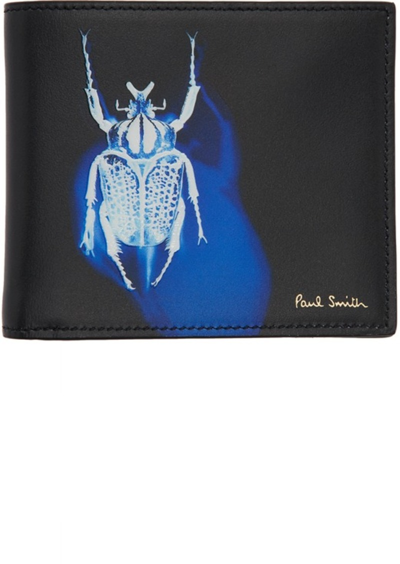 Paul Smith Black Beetle Bifold Wallet
