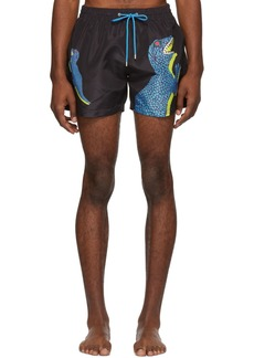 Paul Smith Black Big Dino Classic Swim Shorts