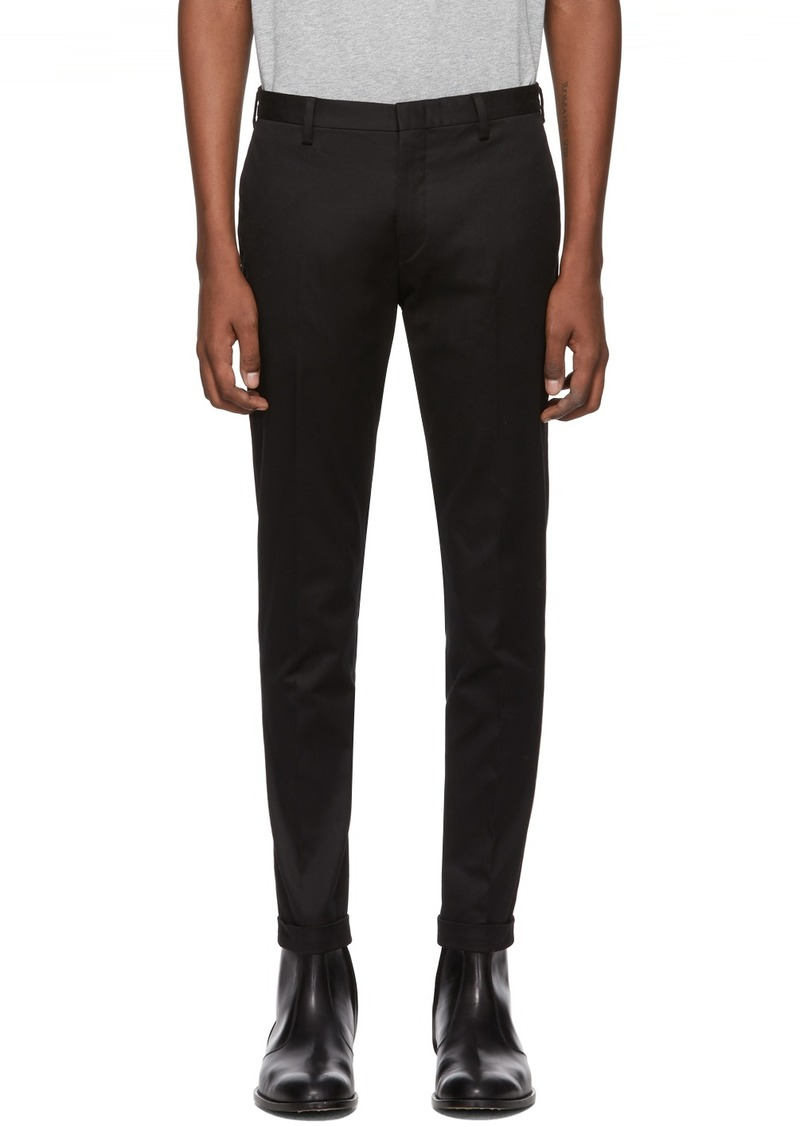 Paul Smith Black Cotton Stretch Chino Trousers