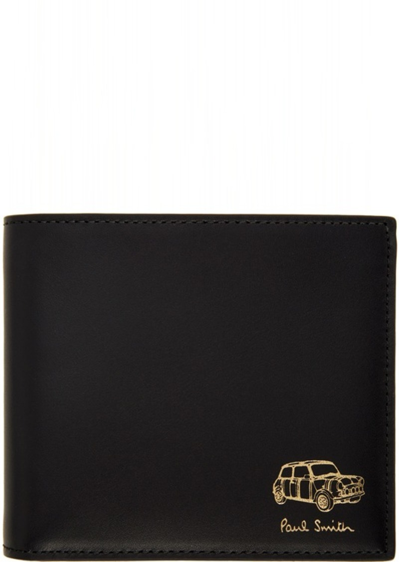 Paul Smith Black Embossed Mini Wallet