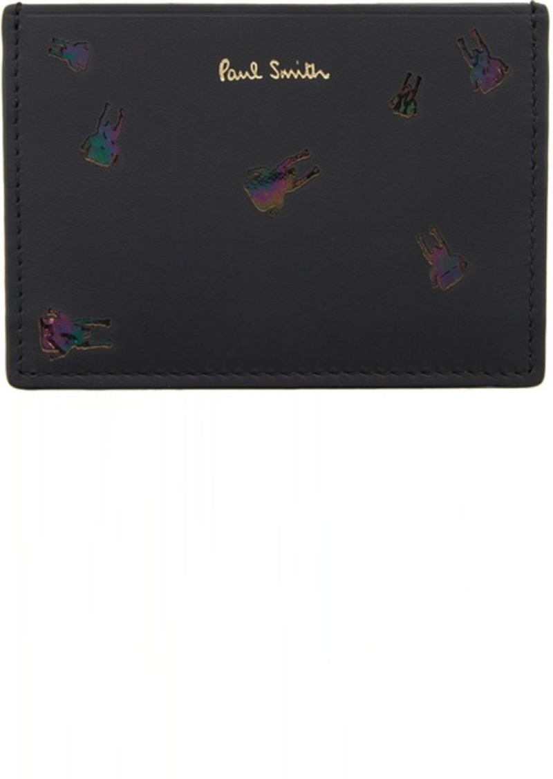 Paul Smith Black Insect Card Holder