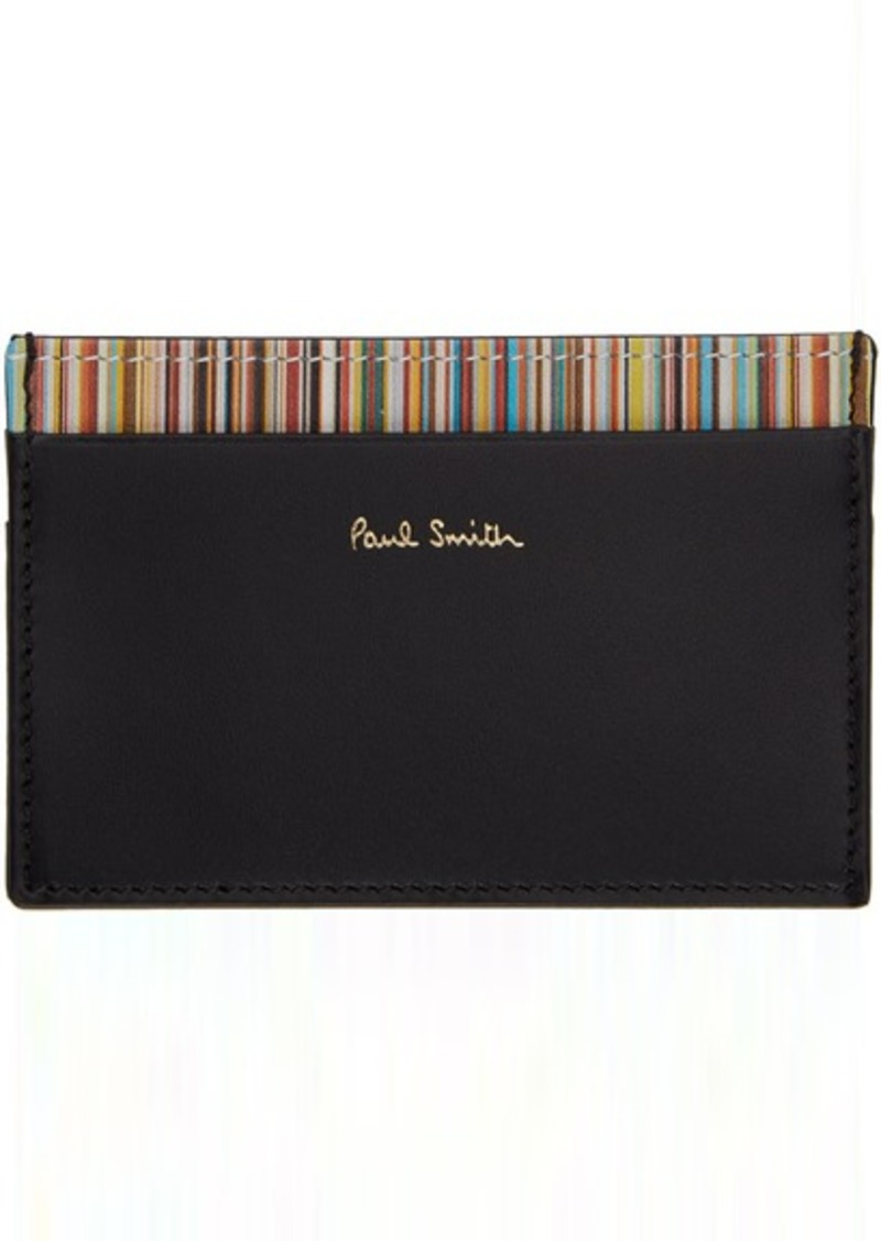 Paul Smith Black Multi Stripe Card Holder