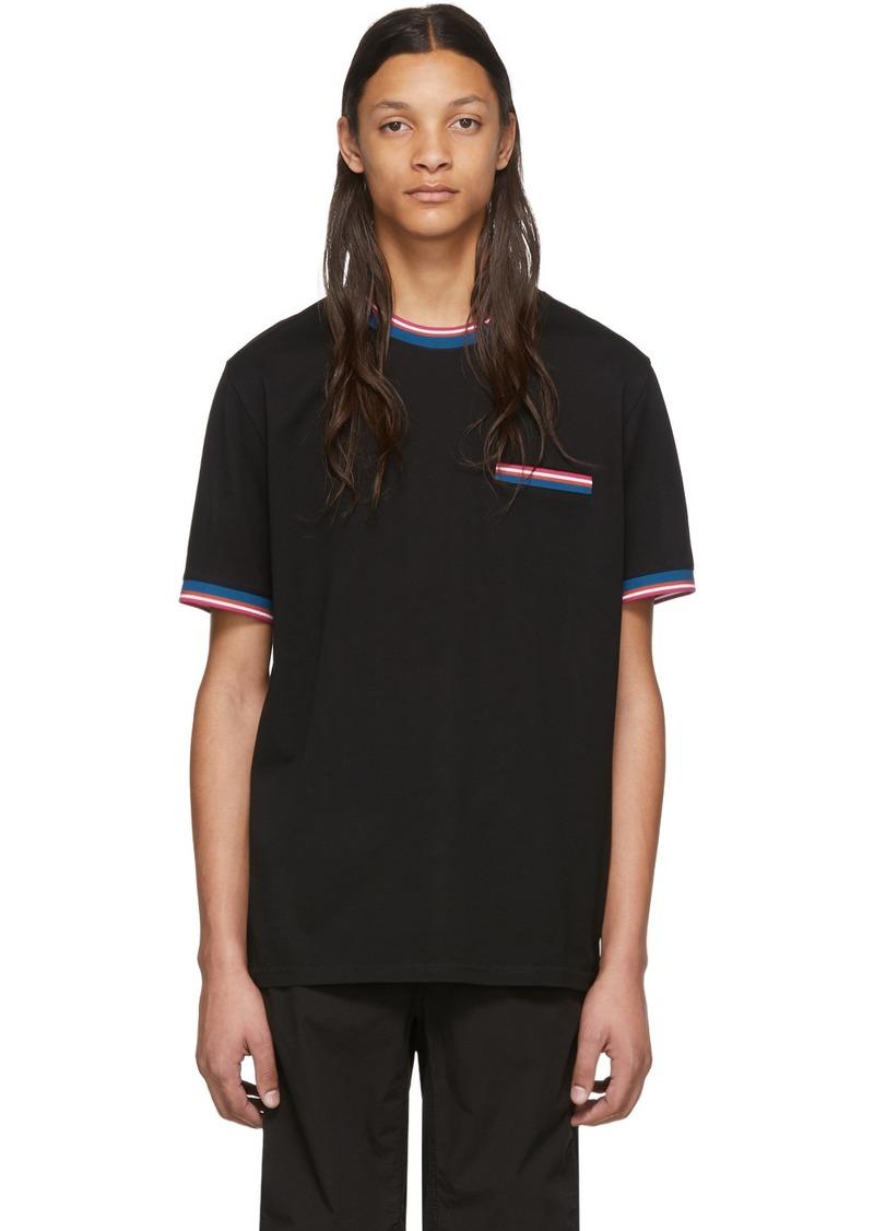 Paul Smith Black Multi Stripe T-Shirt