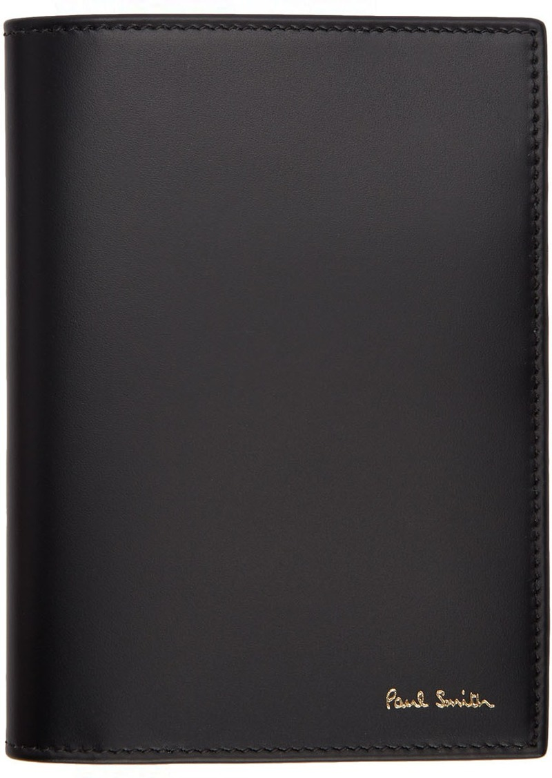 Paul Smith Black Signature Stripe Interior Passport Holder