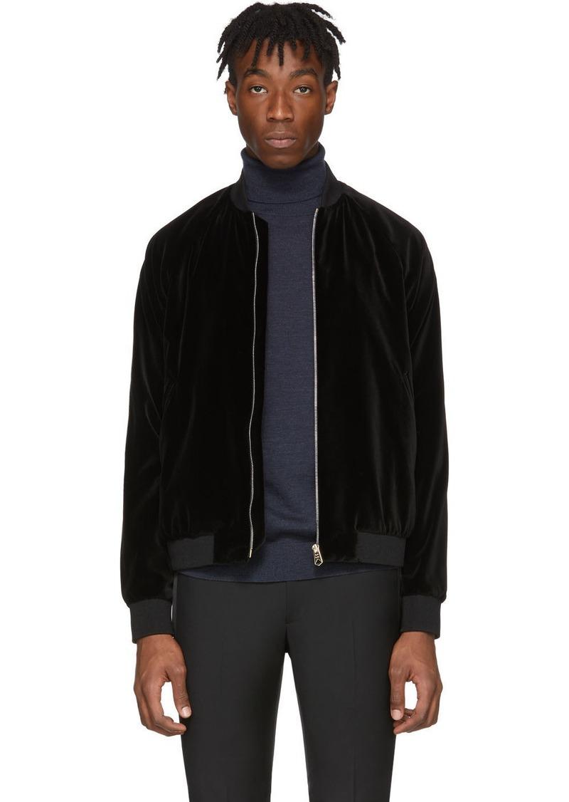 Paul Smith Black Velvet Bomber Jacket