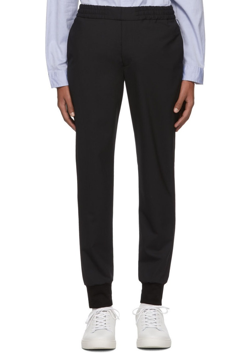 Paul Smith Black Wool Drawcord Trousers