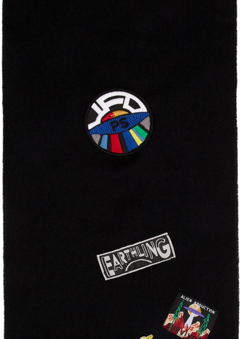 Paul Smith Black Wool UFO Scarf