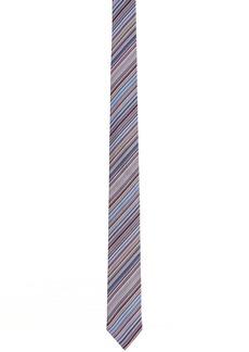Paul Smith Blue & Multicolor Silk Striped Narrow Tie