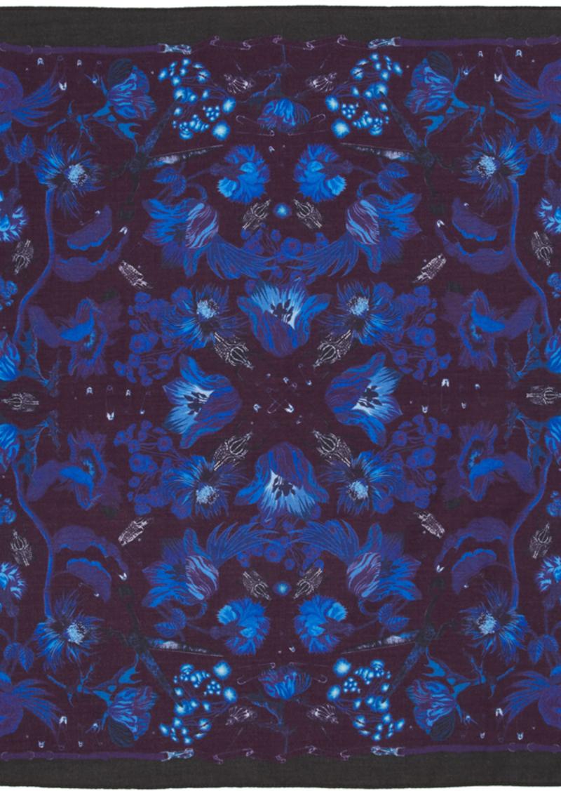 Paul Smith Blue Beetle Botanical Pocket Square