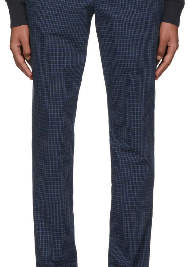 Paul Smith Blue Check Mid Fit Chino Trousers