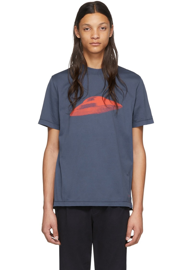 Paul Smith Blue Flying Saucer T-Shirt