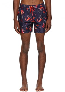 Paul Smith Blue Shrimp Print Swim Shorts