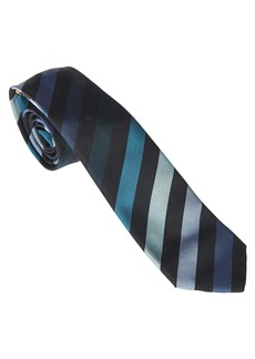 Paul Smith Blue Tie With Vertical Stripes