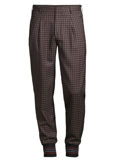 Paul Smith British Wool Check Joggers
