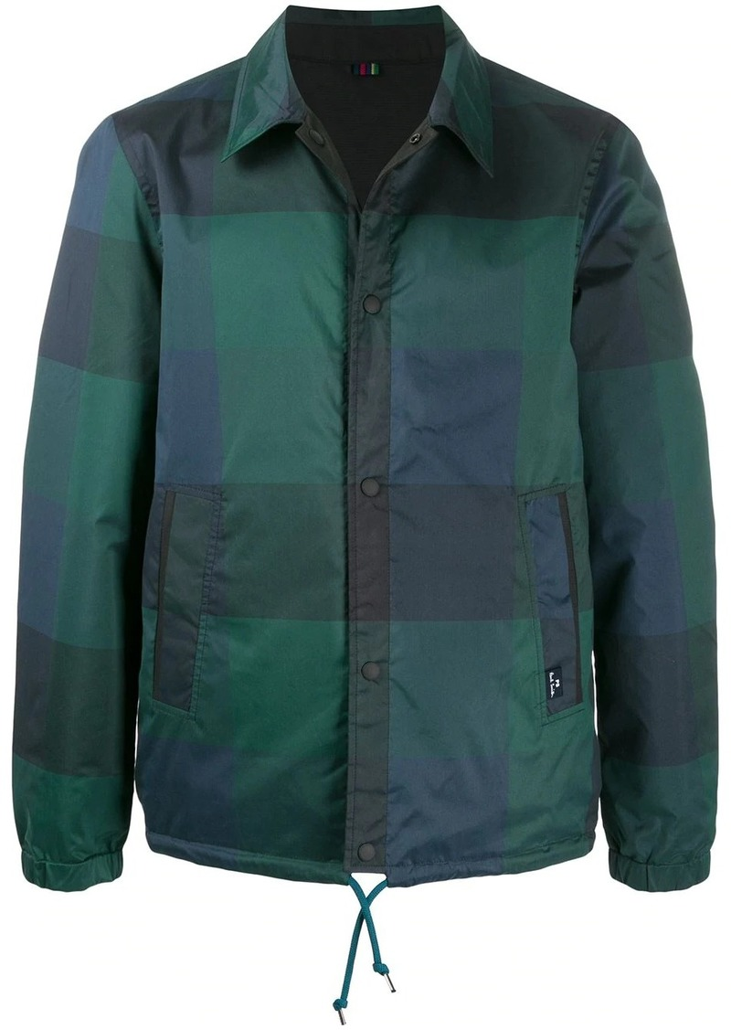 Paul Smith Buffalo check reversible jacket