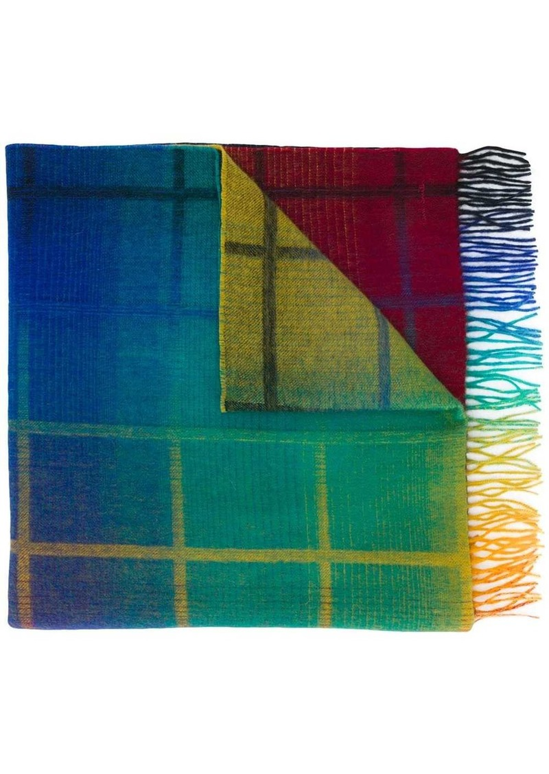 Paul Smith check knit scarf