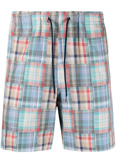 Paul Smith check-patchwork drawstring shorts