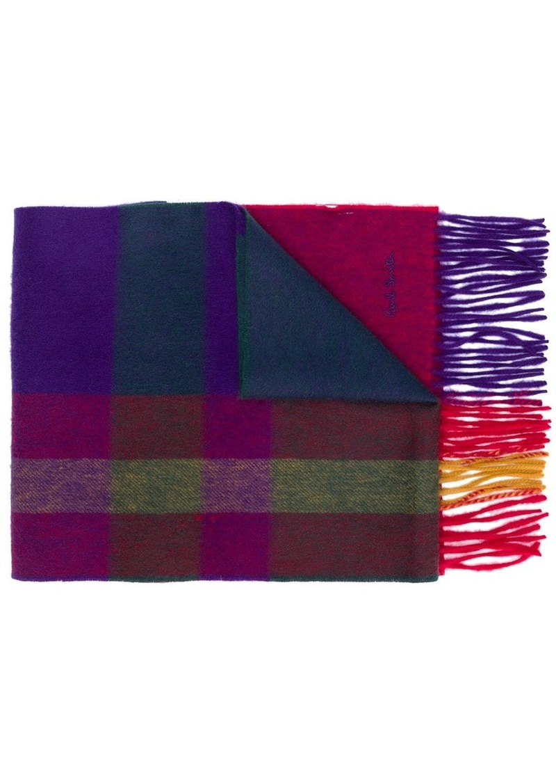 Paul Smith check print scarf