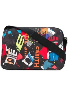 Paul Smith collage print messenger bag