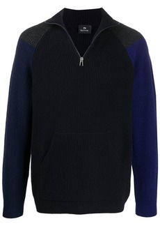 Paul Smith colour-block half-zip jumper