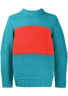 Paul Smith colourblock knitted jumper