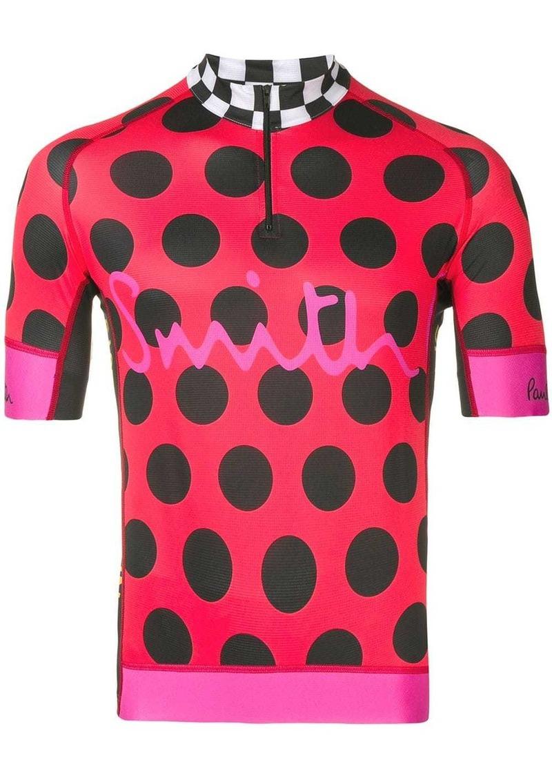 Paul Smith contrast print racing shirt