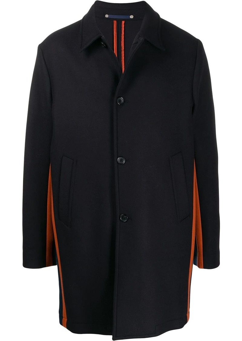 Paul Smith contrast single-breasted coat