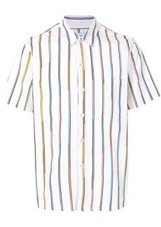 Paul Smith diagonal stripe print short-sleeved shirt