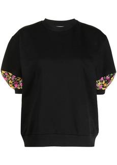 Paul Smith Ditsy Floral-trim cotton sweatshirt
