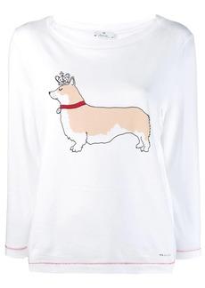 Paul Smith dog print long-sleeve top