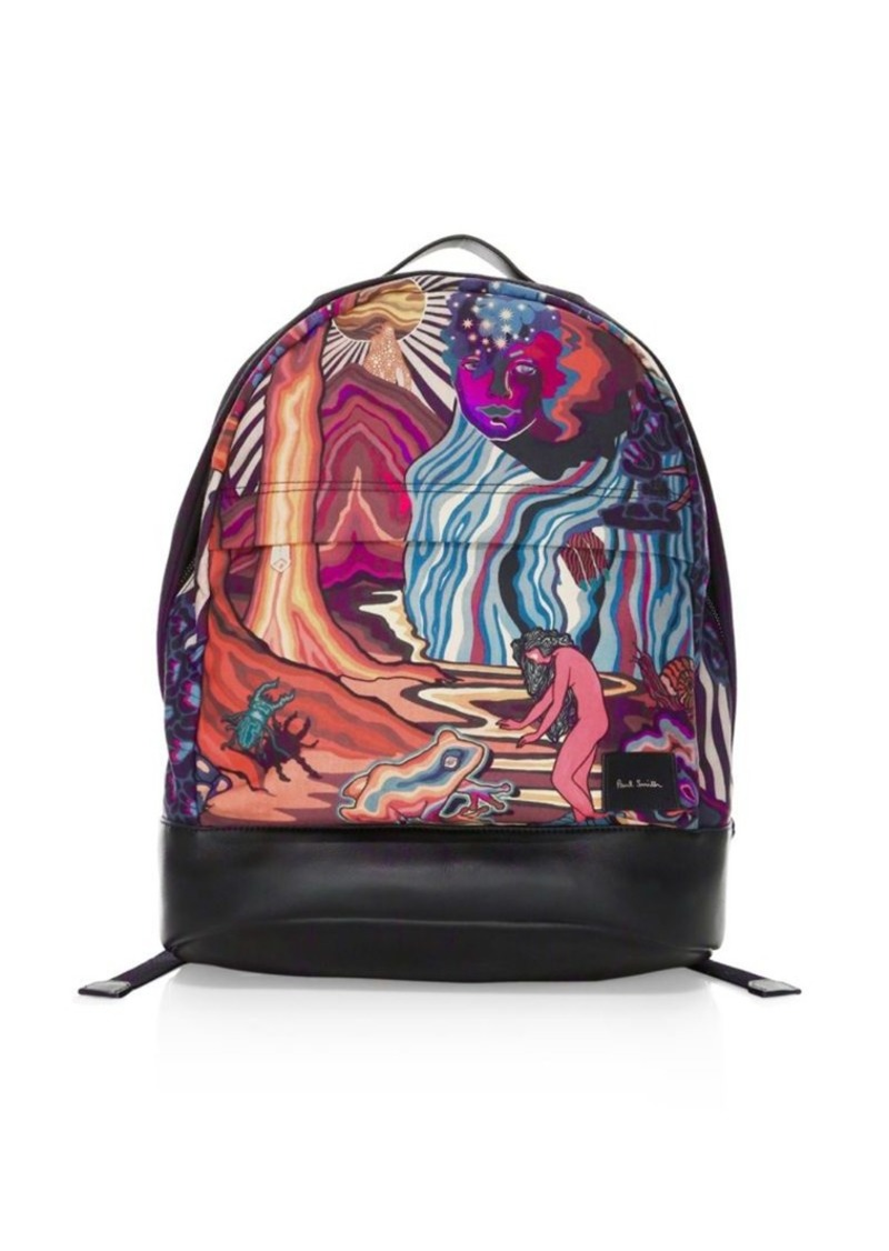 Paul Smith Dreamer Printed Canvas Backpack